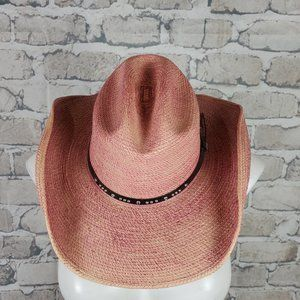 Pink Cowboy Hat Sun Body Hats Texas Rodeo Woven